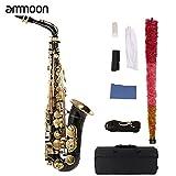 ammoon bE Alto Saxphone Brass Lacquered Gold E Flat Sax (Sax)