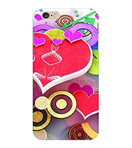 ColourCraft Love Pattern Design Back Case Cover for APPLE IPHONE 6S PLUS
