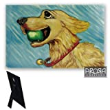 Ceramic canine companions Golden retriever wall art 715 from awardboardtrophies.co.uk.