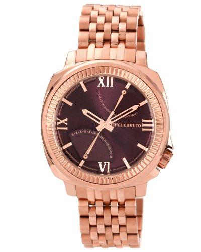 Vince Camuto  VC/1002BYRG - Reloj de cuarzo para hombre, con correa de acero inoxidable, color dorado