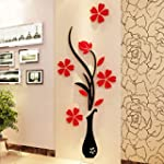 Idealhere 1Pc 3D Vase Flower Tree Cry...