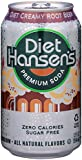 Hansen's Diet Soda Cans, Creamy Root Beer, 12 Ounce (Pack of 24)