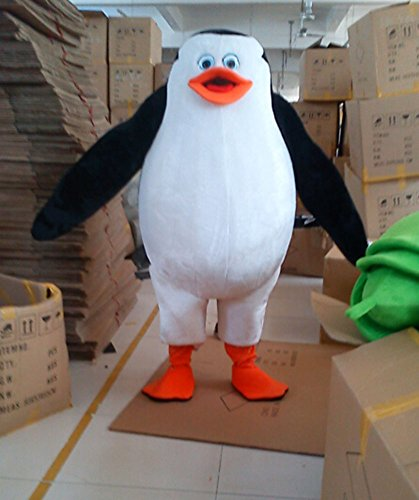 The Penguins of Madagascar Penguin Mascot Costume Cartoon Character Adult Size