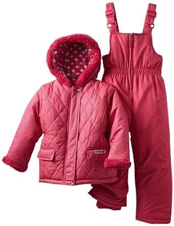 Pink Platinum Little Girls'  Sparkle Snowsuit, Fuschia, 5/6
