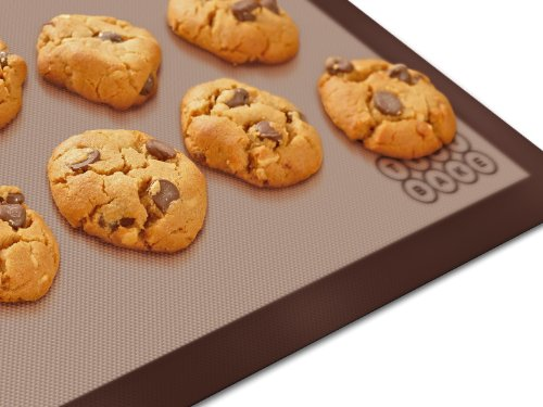 Nonstick Silicone Baking Mat - Baking Cookie Sheet Liner, Reuseable High Temperature Half Size 16 1/2 X 11 1/2 -Ideal For Pastry- Healthy Affordable Free & Easy Bakeware - Similar To Silpat With A 10 Year Guarantee Order Your Tidybake Mat Today
