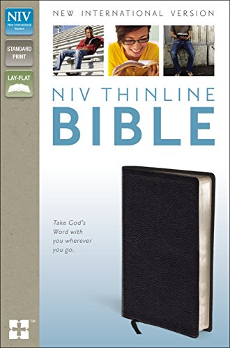 NIV-Thinline-Bible-Bonded-Leather-Black-Red-Letter-Edition