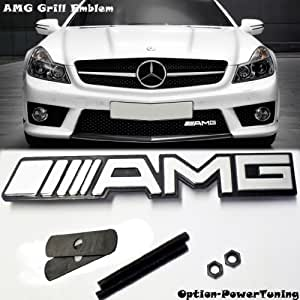 New mercedes benz amg logo grill grille emblem universal for Mercedes benz amg emblem