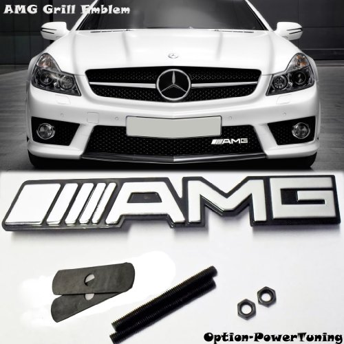 Affordable new mercedes benz amg logo grill grille emblem for Mercedes benz amg emblem