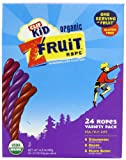 Clif Kid Organic Fruit Rope, Variety Pack, Strawberry, Mixed Berry, Grape, 0.7-Ounce Bars, 24 Count
