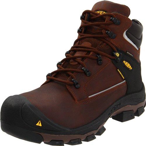 "Keen Utility Men'S Portland Pr 6"" Aluminum Toe Work Boot,Dark Brown,11.5 D Us"