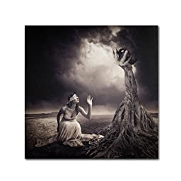 Trademark Fine Art Is There Anybody Out There Artwork by Erik Brede, 14 by 14-Inch