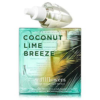 Bath & Body Works Wallflowers Home Fragrance Refill Bulbs Coconut Lime Breeze 2 Pack