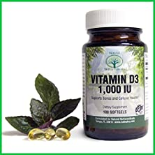 buy Natural Nutra - Vitamin D3 Supplement - Premium Sunshine Vitamin - Made In The Usa - Non Gmo - Gluten Free - All Natural - 100 Softgels - 1000 Iu