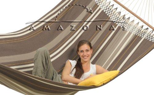 Hängemattengestell Olymp Amazonas mit Luxus Stabhängematte Palacio cafe Amazonas