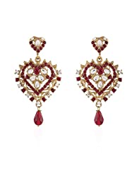 I Jewels Tradtional Gold Plated Elegantly Handcrafted Pair Of Fashion Earrings For Women. - B00N7IQ4JS