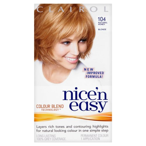 Clairol Nice'N Easy Permanent Hair Colour 104 Natural Honey Blonde front-696491