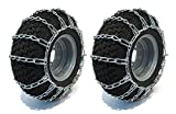 New Pair of 15x6x6 , 15x6.00-6 Snow Mud Traction TIRE CHAINS, 2-Link Spacing