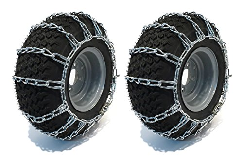 New Pair of 13x5x6 , 12.5x450x6 Snow Mud Traction TIRE CHAINS, 2-Link Spacing (13 X 4 Tire Chains compare prices)