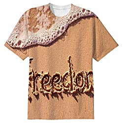 Snoogg Freedom Mens Casual All Over Printed T Shirts Tees