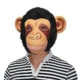 kingmas® Máscara de Halloween Animal Orejas grandes de chimpancé máscara de látex