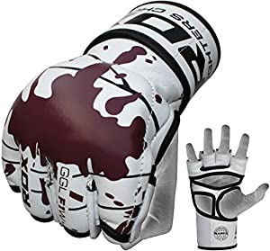 RDX Cow Hide Leather Grappling Gloves MMA,UFC,Boxing,Cage NHB,BJJ, Small, Medium, Large, X-Large