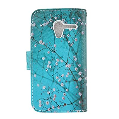 Moto X Case, Mstechcorp Premium Wallet PU Leather Case Flip Folio Case Cover for Motorola Moto X Phone Case (1st Gen Only) - Includes Accessories from mstechcorp
