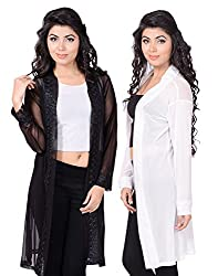 sweekash women's Power Net shrug (Combo pack of 2)