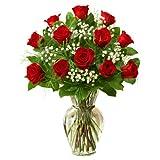 1800Flowers - Rose Elegance Premium Long Stem Red Roses - 12 Stem Red Roses