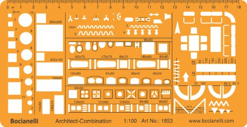 Bocianelli 1 100 Scale Architectural Drawing Template Stencil Architect Technical Drafting