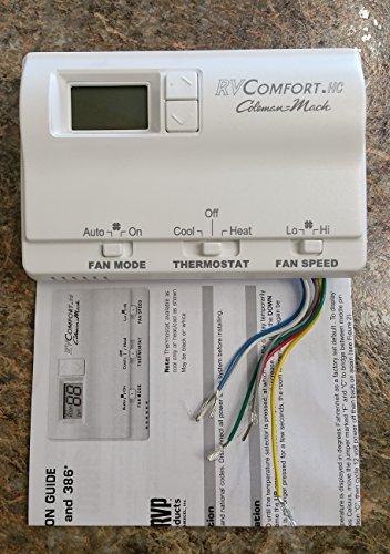 Rv Comfort Coleman-mach 12- volt Digital Thermostat Hc white (12 Volt Rv Thermostat compare prices)