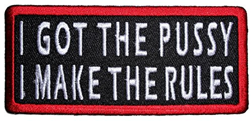 Leather Supreme I Make The Rules Lady Rider Embroidered Biker Patch-White-Small