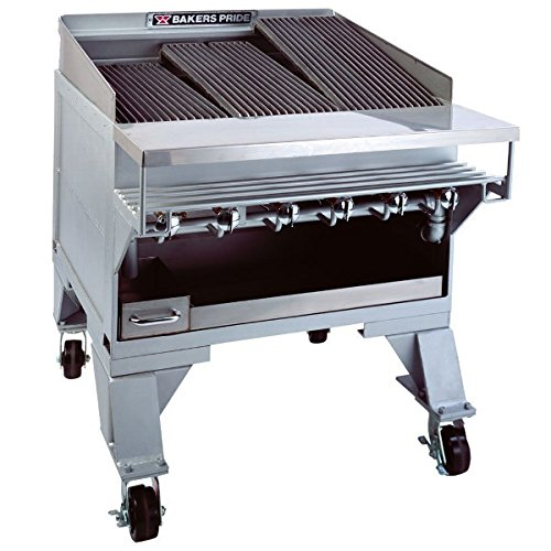 Bakers Pride Dante CH Extra Heavy Duty Floor Radiant Gas Char Broiler, 44 x 36 1/4 x 40 inch -- 1 each.
