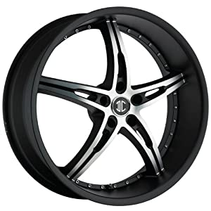 2CRAVE – no.14 – 18 Inch Rim x 7.5 – (5×4.5) Offset (40) Wheel Finish – satin black with machined face