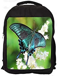 """Snoogg Multicolor Butterfly Casual Laptop Backpak Fits All 15 - 15.6"""" Inch Laptops"""