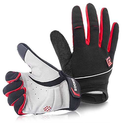 Zookki-Cycling-Gloves-Mountain-Bike-Gloves-Road-Racing-Bicycle-Gloves-Light-Silicone-Gel-Pad-Riding-Gloves-Touch-Recognition-Full-Finger-Gloves-MenWomen-Work-Gloves