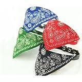 Huayang Petit chien chat réglable. bandana. col écharpe foulard marque(Noir)
