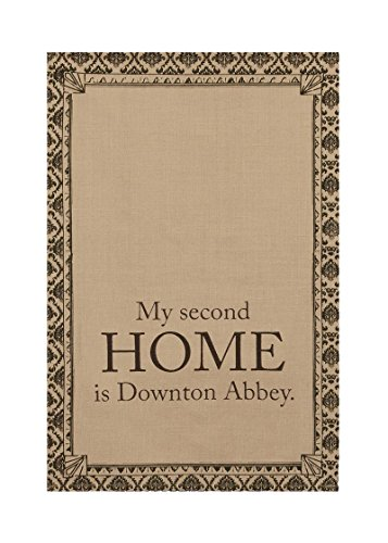 "28"" X 18"" Downton Abbey Life ""Second Home"" Brown Decorative Damask Kitchen Dish Tea Towel"