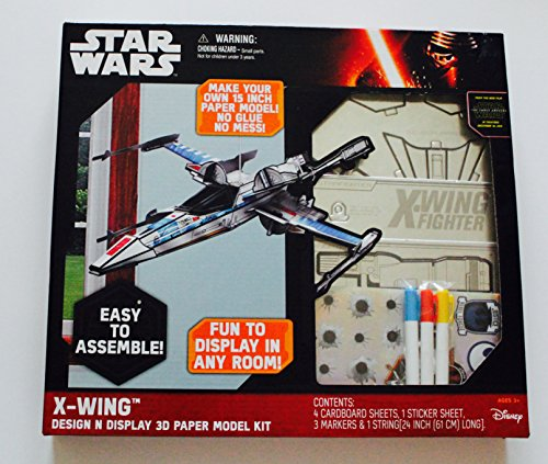 STAR WARS X-Wing DESIGN N DISPLAY 3D PAPER MODEL KIT (Castle Paper Model compare prices)