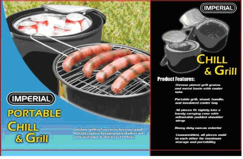Chill and Grill – Portable Charcoal Barbeque Grill for Outdoor Grilling With A Cooler Bag