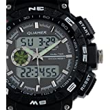 Brand New Men's Rubber Strap Black Analog Digital Dual Dial Luxury Sport Watch WS056