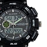 Brand New Mens Rubber Strap Black Analog Digital Dual Dial Luxury Sport Watch WS056
