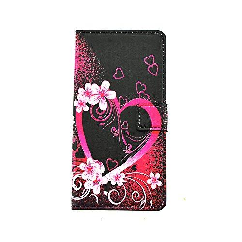 Coque pour Sony Xperia C6, Cozy Hut Sony Xperia C6 Bookstyle Étui Fleur Housse en Cuir Case à rabat pour Sony Xperia C6 Coque de protection
