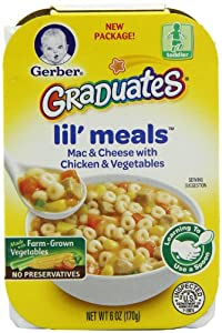 Gerber Graduates Lil' Meals, Mac and Cheese with Chicken and Vegetables, 6 Ounce (Pack of 6)