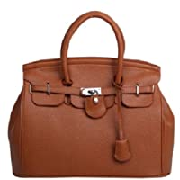 HotEnergy Girl Faux Leather Handbag Tote Shoulder Bags Career Purse (lighttan) from HotEnergy