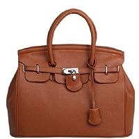 HotEnergy Girl Faux Leather Handbag Tote Shoulder Bags Career Purse (lighttan) from HotEnergy