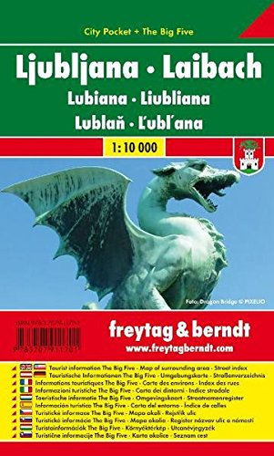 Ljubljana City Pocket Map 1:10K (Slovenia) (English and German Edition)