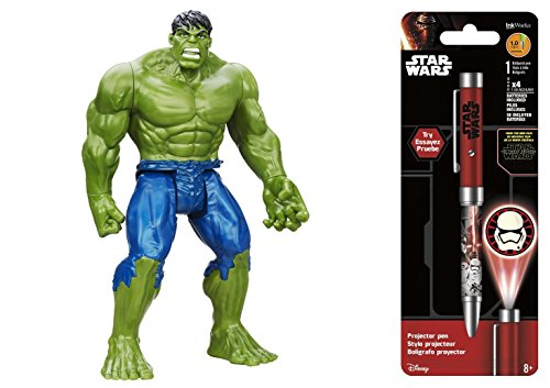 Super Hero Hulk Titan 12 inch Hero Series Action Figures & Star Wars Projector Pen, Colors may vary Toys