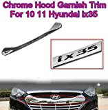 Chrome Hood Garnish Trim Exterior #3-15A for 2010 2011 Hyundai Tucson ix35