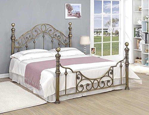 CANTERBURY-Antik-Messing-Vintage-Viktorianischer-Stil-Metall-Bett-Rahmen-Doppel-oder-King-Gre-durch-Schlaf-Design-metall-schwarz-King-5FT