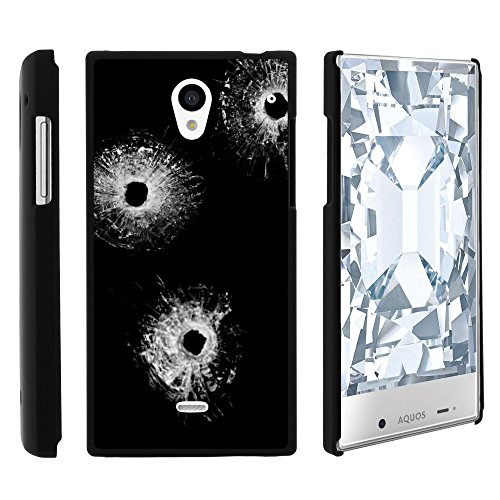 Sharp AQUOS Crystal Phone Case, Slim Hard Shell Snap On Case with Custom Images for Sharp AQUOS Crystal 306 SH (Sprint, Boost Mobile, Virgin Mobile) from MINITURTLE | Includes Clear Screen Protector and Stylus Pen - Bullet Holes (Aquos Sharp Boost Mobile Phone compare prices)